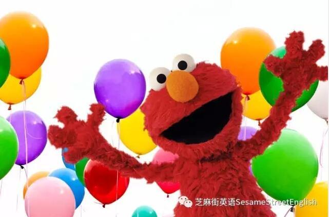 芝麻街英语elmo生日了图片