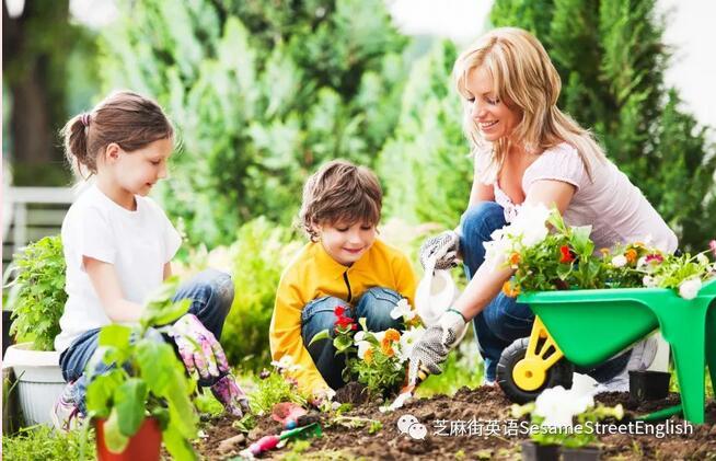 在花園裏享受大自然
