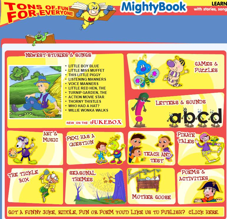 儿童互动阅读资源网:mightybook